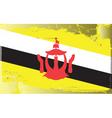 brunei national flag vector image vector image