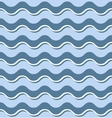 Horizontal blue waves seamless pattern vector image