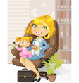 caring business mother vector image