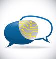 Digital communication design vector image