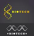 DNA molecular helix icon vector image