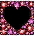 Gem Heart Frame vector image