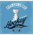 Hockey trophy or cup for t-shirt print vector image