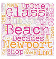 Oregon Coast Town Revisits Glory of Glass Floats vector image