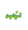 superfood word font text typographic logo design vector image