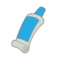 Tube of blue paint icon cartoon style vector image