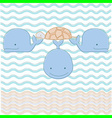 turtle on three whales vector image