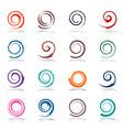 spiral design elements vector image vector image
