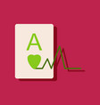 flat icon design ace of hearts silhouette in vector image vector image