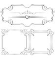 Set frames for design vector image