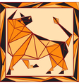 Chinese horoscope stylized stained glass ox vector image vector image