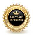 Hundred Forty Years Experience Badge vector image vector image