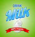 Drink milk vector image
