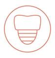 Tooth implant line icon vector image vector image