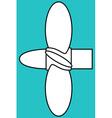 Marine propeller vector image vector image