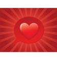 heart bubble vector image