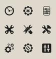 set of 9 editable repair icons includes symbols vector image
