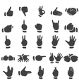 Set of desture icons vector image