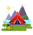 summer camping background vector image