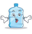 surprised gallon character cartoon style vector image