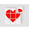 heart consists of childrens blocks vector image