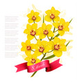 march with yellow flowers international vector image vector image