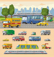 colorful urban transport concept vector image