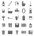 Bathroom icons on white background vector image vector image
