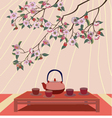 Sakura Tea ceremony Menu Coffee vector image