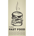 best fast food vector image