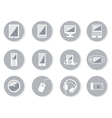 Collection of equipment icons vector image