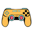 console joystick icon cartoon vector image