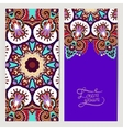 decorative label violet colour card for vintage vector image