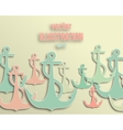 Flat anchor icons vector image