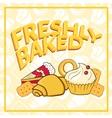 Fresh baked vector image