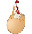 Hen and the big egg cartoon vector image