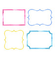 set of watercolor color vintage frames vector image