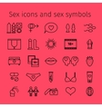 Sex icons in line style vector image