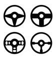 steering wheel icon set vector image