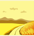 summer or autumn season wheat field valley nature vector image