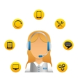 technical service and call center icon vector image