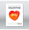 Template layout invitation valentine holiday vector image