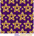 Seamless pattern with golden stars vector image vector image