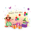 Funky Birthday vector image