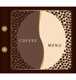 Coffee menu template vector image