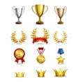 Ranking icons set vector image