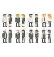 Flat design business worker set vector image vector image