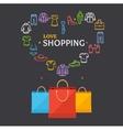Shopping Clothing Season Concept vector image