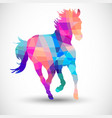 Abstract horse of geometric shapes vector image