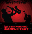 Abstract Jazz music background vector image